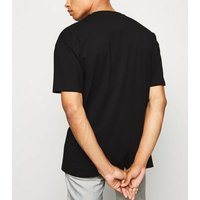 Black Oversized Cotton T-Shirt New Look