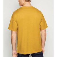 Yellow Oversized Heavy Cotton T-Shirt New Look