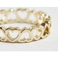 Gold Heart Link Ring New Look