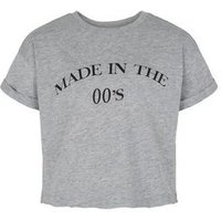 Girls Grey Made In The '00s Slogan T-Shirt New Look