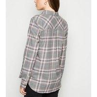 Maternity Light Grey Check Shirt New Look