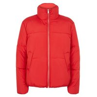Red Boxy Puffer Jacket New Look