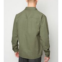 Olive Double Pocket Light Jacket New Look