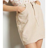 Stone 5 Pocket Corduroy Mini Skirt New Look