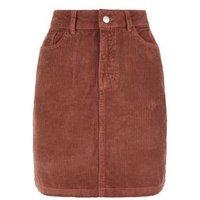 Rust Pocket Cord Mini Skirt New Look