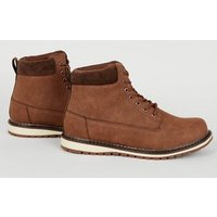 Tan Lace Up Hiker Boots New Look