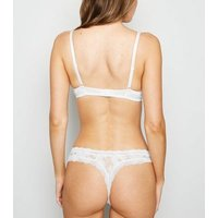White Lace Thong New Look