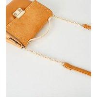 Mustard Leather-Look Studded Mini Shoulder Bag New Look Vegan