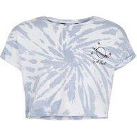 Girls Blue Tie Dye Get Lost Slogan T-Shirt New Look
