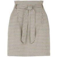Petite Black Check High Waist Mini Skirt New Look