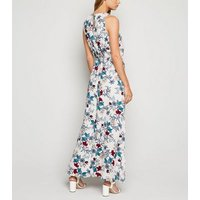 Mela White Floral Side Split Maxi Dress New Look