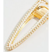 Cream Faux Pearl Diamanté Hair Clip New Look