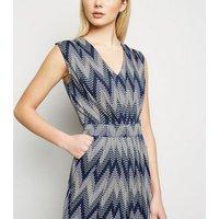 Blue Vanilla Pink Zig Zag Midi Dress New Look