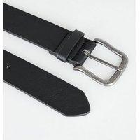 Black Leather-Look Buckle Jeans Belt New Look