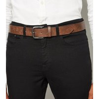Tan Leather-Look Jeans Belt New Look