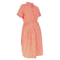 Maternity Red Ditsy Floral Shirt Dress New Look