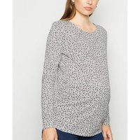 Maternity Black Floral Long Sleeve T-Shirt New Look