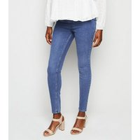Maternity Blue 'Lift & Shape' Jeggings New Look