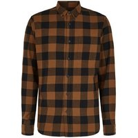 Rust Check Long Sleeve Shirt New Look