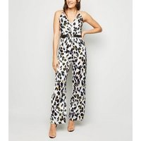 AX Paris Off White Leopard Print Jumpsuit New Look