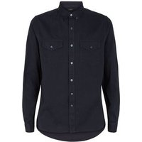Navy Twill Long Sleeve Shirt New Look