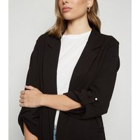 Black Collared Scuba Blazer New Look
