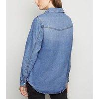 Blue Denim Long Sleeve Shirt New Look