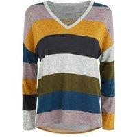 JDY Light Grey Stripe Long Sleeve Top New Look