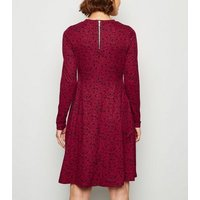 Maternity Red Floral Soft Touch Dress New Look