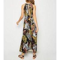 Cameo Rose Black Tropical Print Maxi Dress New Look