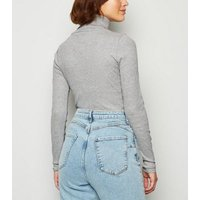 Tall Grey Roll Neck Long Sleeve Top New Look
