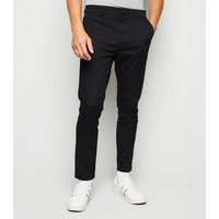 Black Skinny Stretch Chino Trousers New Look