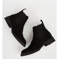 Girls Black Suedette Chelsea Boots New Look Vegan