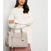 Mink Leather-Look Stud Tote Bag New Look Vegan