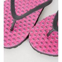 Souls Bright Pink Massage Sole Flip Flops New Look