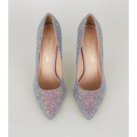 Purple Glitter Pointed Court Shoes New Look Vegan