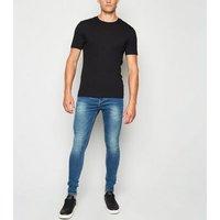 Men's Pale Blue Skinny Spray On Jeans New Look