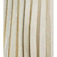 Curves Gold Glitter Pleated Midi Skirt New Look