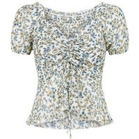 Tokyo Doll White Ditsy Floral Milkmaid Top New Look