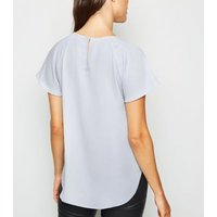 Silver Flutter Sleeve Top New Look
