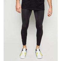 Black High Shine Gym Leggings New Look