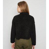 Girls Black Teddy Sweatshirt New Look