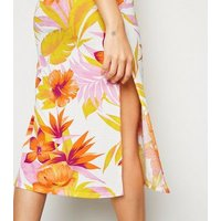 Cameo Rose Yellow Floral Midi Dress New Look