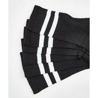3 Pack Black Sports Stripe Socks New Look