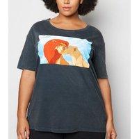 Curves Grey Disney Lion King T-Shirt New Look