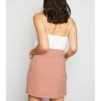 Urban Bliss Mid Pink Denim Mini skirt New Look