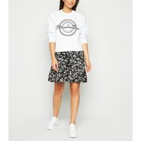 Petite White Manhattan Slogan Sweatshirt New Look