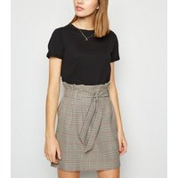 Brown Check High Waist Mini Skirt New Look