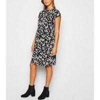 Maternity Black Floral Jersey Swing Dress New Look