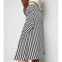 Urban Bliss Blue Stripe Wrap Midi Skirt New Look